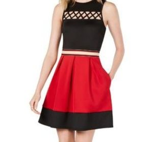 Super Cute Red and Black Dress